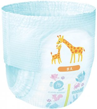 Підгузки-трусики Goo.NS для активних дітей 4 - 9 кг унісекс 62 шт (853625) (4902011850635)