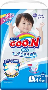 Підгузки-трусики Goo.NL 9 - 14 кг для хлопчиків 44 шт (843097) (4902011751383)