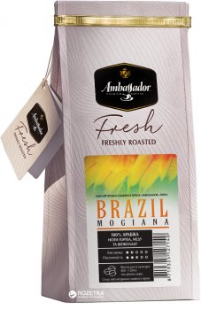 Кава в зернах Ambassador Fresh Brazil Mogiana 200 г (8719325127140)