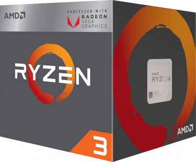 Процесор s-AM4 AMD Ryzen 3 2200G BOX (YD2200C5FBMPK)