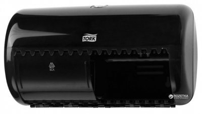 Диспенсер для туалетного паперу TORK Twin 557008 Чорний