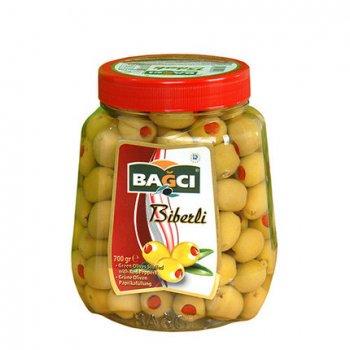 Оливки BAGCI зеленые с перцем 700 г (ol27)