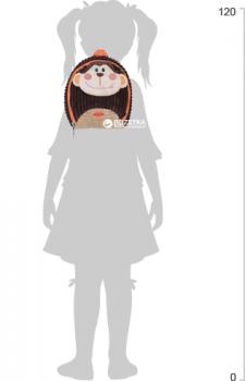 Рюкзак дошкільний Cool For School Brown Monkey 25х20х11 см 1 л (CF86120)