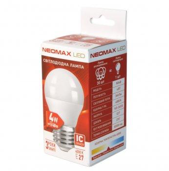 Лампа світлодіодна Neomax E27 4W 4000K G45 320 Лм 220V (4B-4)