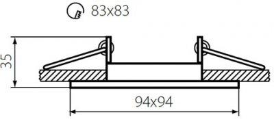 Світильник точковий Kanlux Alren DTL-B (КА-26754)