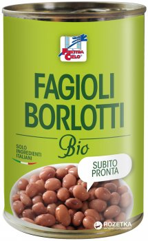 Бобы La Finestra Борлотти органические 400 г (8017977011603)