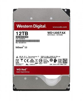 Накопичувач HDD SATA 12.0 TB WD Red NAS 5400rpm 256MB (WD120EFAX)