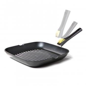 Сковорода-гриль зі знімною бакелітовою ручкою, 26х26 см Optima - Risoli - 00094S/26T00