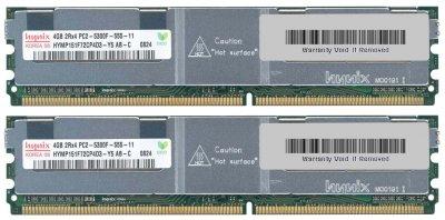 Оперативна пам'ять Fujitsu DDR2-RAM 8GB Kit 2x4GB PC2-5300F ECC 2R (HYMP151F72CP4D3-Y5) Refurbished