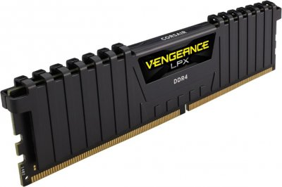 Оперативна пам'ять Corsair 32GB 2666MHz Vengeance LPX Black CL16 (4x8GB) (CMK32GX4M4A2666C16)