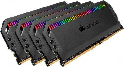 Оперативна пам'ять Corsair 32GB 3000MHz Dominator PLATINUM RGB CL15 (4x8GB) (CMT32GX4M4C3000C15)