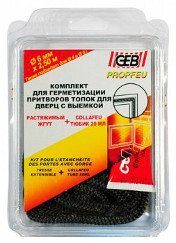 Набір GEB джгут вогнестійкий 15 мм/2,5 м + клей 20 мл