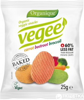 Упаковка чипсів картопляних McLloyd`s Vegee З овочами органічні 25 г х 10 шт. (8588000526871_8588000526895)