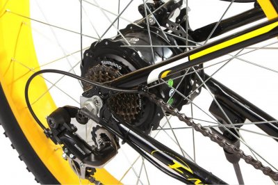 "Електровелосипед E-motion Fatbike 48V 1000 Вт 26"" чорно-жовтий (EFB-BLACK-YELLOW)"