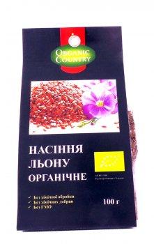 Семена льна органические Organic Country 100 г (4820200941417)
