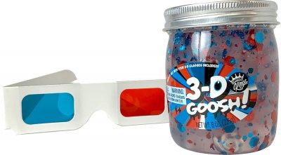 Лизун с 3D эффектом Compound Kings Slime 3-D Goosh с очками Красный-Белый-Голубой 226 г (300116-1) (760939630012)