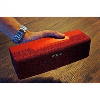 Бездротова Bluetooth колонка SODO L2-LIFE з FM приймачем і функцією гучного зв'язку, RED