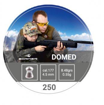 Свинцовые пули Borner Domed 0.55 g 250 шт для охоты и спортивной стрельбы 4.5 мм