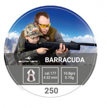 Свинцовые пули Borner Barracuda 0.7 g 250 шт для охоты 4.5 мм