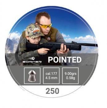 Свинцовые пули Borner Pointed 0.58 g 250 шт для охоты 4.5 мм