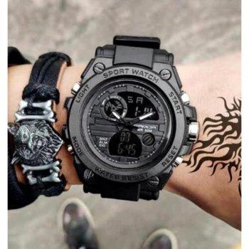 Чоловічі кварцові годинники Sanda Tattoo Водостійкі 46х15 мм Чорний 4405 51549