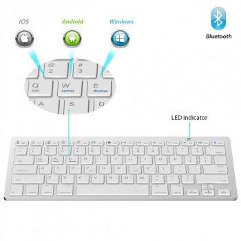 Беспроводная Bluetooth клавиатура UKC X5 White, Белая