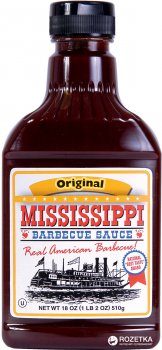 Соус барбекю Mississippi BBQ Оригинальный, Нейтральный вкус 510 г (0743639000026)