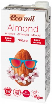 Органическое растительное молоко Ecomil Миндальное без сахара 1 л (8428532230061)
