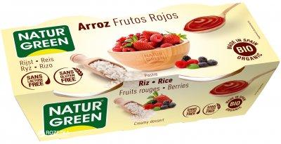 Органический растительный десерт NaturGreen из Риса с красными фруктами 2 х 125 г (8437011502308)
