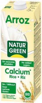 Органическое растительное молоко NaturGreen Рисовое с кальцием без сахара 1 л (8437002932794)