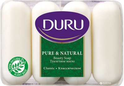 Мыло Duru Pure and Natural экопак Классическое 4 х 85 г (8690506429331)