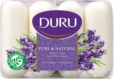 Мыло Duru Pure and Natural экопак Лаванда 4 х 85 г (8690506429348)