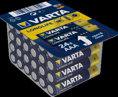 Батарейка Varta Long Life 24 AAA (04103301124)(4008496774548)