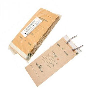 Крафт пакети для стерилізації 75х150 мм з індикатором 100 шт.