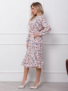 Плаття ISSA PLUS 12412 Рожеве