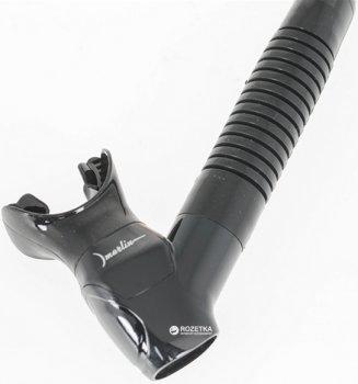 Трубка Marlin Flash с прямой гофрой Черно-голубая (013374)