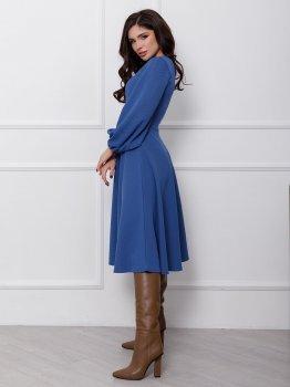 Плаття ISSA PLUS 12423 Синє