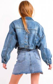 Джинсова куртка Remix 9721 Блакитна