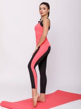 Спортивний костюм ISSA PLUS 12457 Чорний з рожевим