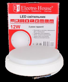Світильник LED для ЖКГ ElectroHouse 12W IP54