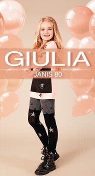 Колготки Giulia Janis (4) 80 Den 128-134 см Dark Grey Melange (4823102965550)
