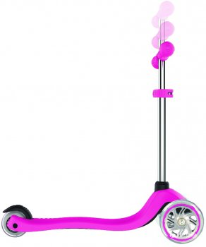 Самокат Globber Primo Lights 3 колеса з підсвіткою до 50 кг 3+ Рожевий (423-110-3)