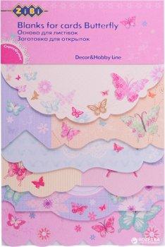 Набір заготовок для листівок ZiBi Butterfly 10.2 x 15.3 см (ZB.18215-AF) (4823078907103)