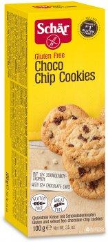 Печенье с кусочками шоколада Dr. Schar Choco Chip Cookies 100 г (х6) (8008698013021)