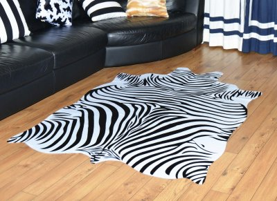 Шкура зебри штучна Homytex біло-чорна