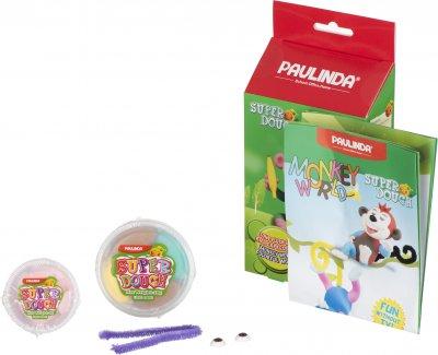 Масса для лепки Paulinda Super Dough Monkey World Обезьяна с глазами (PL-081537-1)