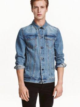 Куртка джинсовая H&M 0416973-4 Голубая