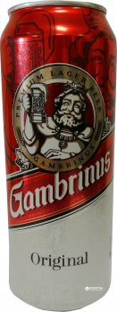 Упаковка пива Gambrinus светлое фильтрованное 4.3% 0.5 л x 24 шт (8586001762656)