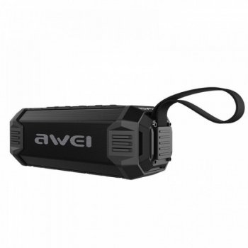 Портативна екстремальна універсальна блютуз колонка Awei Y280 Bluetooth, MP3, AUX, Mic, Power bank міцна з ременем волого і ударо захист (46851)