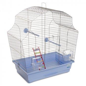Клетка для птиц Природа Мери 51 x 55 x 27 см Хром/светло-голубая (4823082414710)